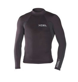 XCEL Xcel Xcelerator 1/.5 L/S Neostretch Wetsuit Top Black Size 2XL Mens