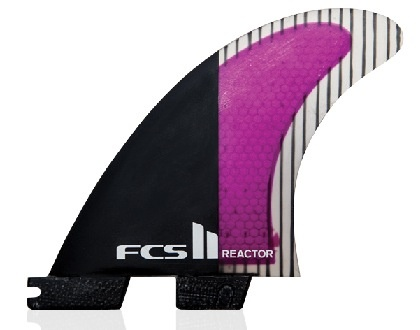 FCS FCS II Reactor PC Carbon Tri Set Large Surfboard Thruster Fins