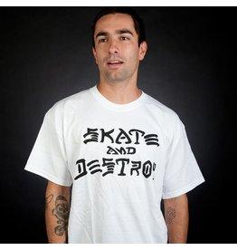 Skate Thrasher Skate And Destroy T White XL