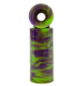Skate Penny Wheels 59mm Green Purple Swirl