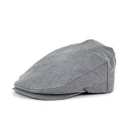 Brixton Barrel Hat Light Grey Herringbone