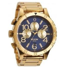 Nixon Nixon 48-20 Chrono Gold Blue Sunray Watch