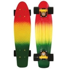 """Skate Penny Rasta Fade 27"""" Nickel Complete Skateboard"""