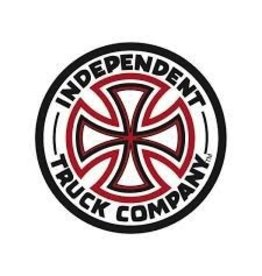 Skate Independent Red/White Cross 7 Inch Decal