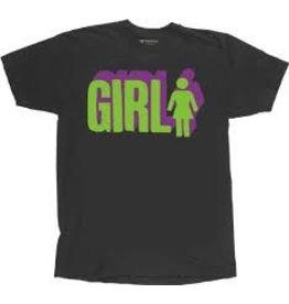 Skate Girl 3D T-Shirt Large Gray