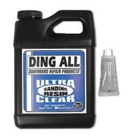 Ding Repair Ding All Sanding Resin Ultra Clear Surfboard Repair
