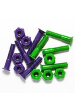 "Skate SDS 1"" Colored Hardware Coated Purple/Green"