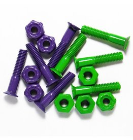 """Skate SDS 1"""" Colored Hardware Coated Purple/Green"""