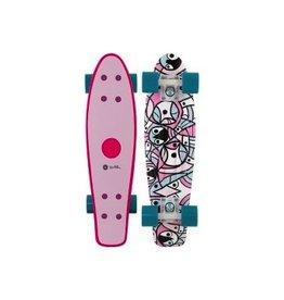"""Skate Penny Pendleton Wave 22"""" Pink Complete Skateboard"""