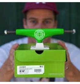 Skate Thunder Cromer X Huf Hi 147 Neon Green/White Truck Set Ltd.