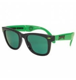 Skate Creature Party First Sunglasses Black/Green OS Unisex