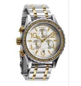 Nixon Nixon 38-20 Chrono Silver Gold Watch