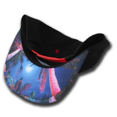 Brim Skins Brimskins South Beach Palms Custom Headwear Skin