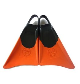 FCS Hydro Classic Fin Black Orange Large Bodyboarding