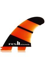 FCS FCS II Accelerator Neo Glass Tri Set Medium Thrusters Surfboard Fins