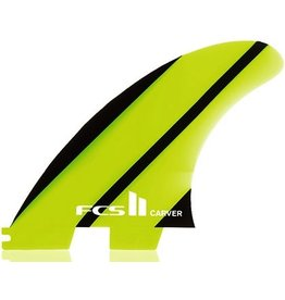 FCS FCS II Carver Neo Glass Tri Set Thrusters Surfboard Fins Large