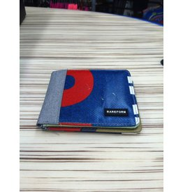 Rareform Rareform Bi-Fold Wallet Upcycled Billboard Blue Red