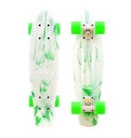 Skate Penny Marble White/Green Complete
