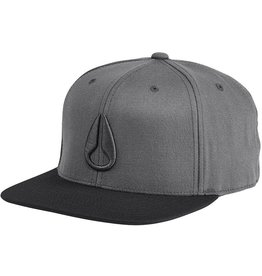 Nixon 110 Icon Snap Back Hat Charcoal Black