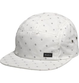 RVCA The RVCA Comply Five Panel is a poplin 5-panel hat with an all over print. The hat has a plastic adjuster strap and a RVCA flag label at the rear.<br /> <br /> 100% cotton