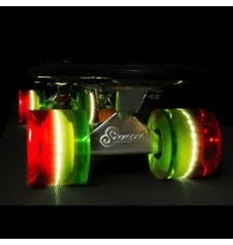 Sunset Skateboard Co. Sunset Rasta (Red/Yellow/Green) 59mm/78a Cruiser Wheel Set w/ ABEC-9 Bearings