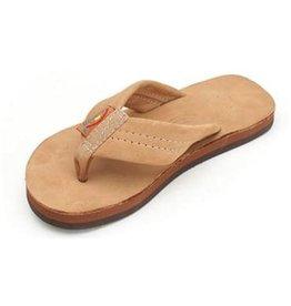 Rainbow Rainbow Kids Premier Leather Single Layer Sierra Brown Sandals Size 4-5