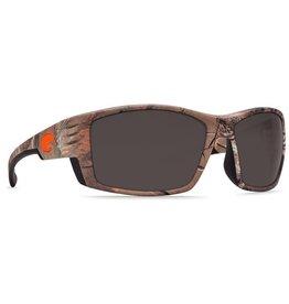 COSTA Costa Cortez Realtree Xtra Camo Orange Logo Gray 580P Sunglasses