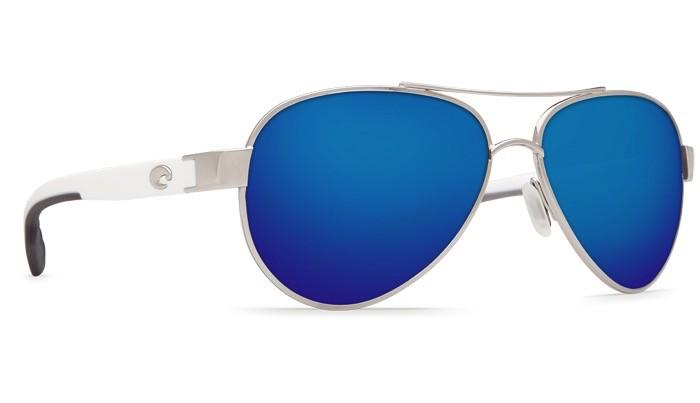 COSTA Costa Del Mar Loreto Sunglasses Palladium Blue Mirror Polarized Plastic