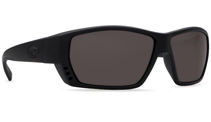 COSTA Costa Del Mar Tuna Alley Blackout Gray 580P Sunglasses