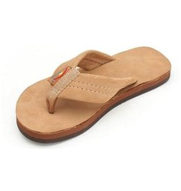 Rainbow Rainbow Kids Premier Leather Single Layer Sierra Brown Sandals Size 2-3