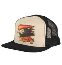 Skate Santa Cruz Vintage Obrien Reaper Trucker Mesh Hat Natural/Black