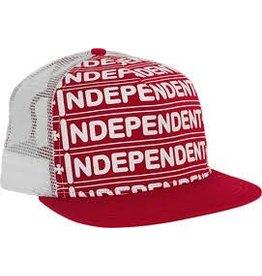 Skate Independent Axle Bar Trucker Mesh Hat Red/White