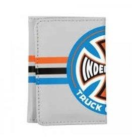 Skate Independent Stripes T/C Tri-Fold Wallet Grey