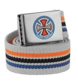 Skate Independent Stripes T/C Web Belt Grey