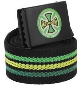 Skate Independent Stripes T/C Web Belt Black