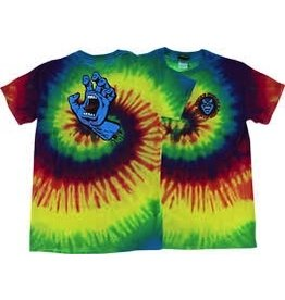 Skate Santa Cruz Screaming Hand T-Shirt Reactive Rainbow, L
