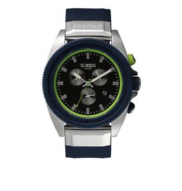 Nixon Nixon Rover Chrono Midnight Blue Volt Green Watch Mens