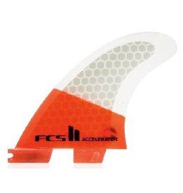 FCS FCS II Accelerator PC Tri Set Grom Thrusters Surfboard Fins