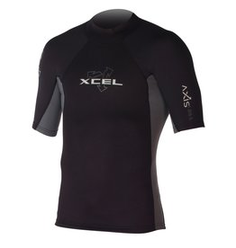 XCEL Xcel Axis1/0mm Wetsuit Top S/S Black/White Large Mens MN015AX4