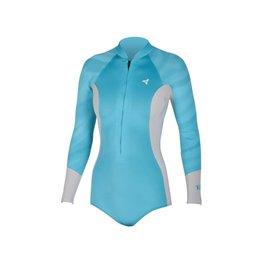 XCEL Xcel Hana Bikini Cut L/S Springsuit 2MM Ocen Blue Ice Grey Wetsuit Womens