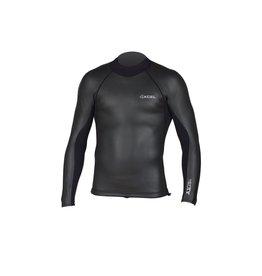 XCEL Xcel Axis Smoothskin Back Zip Wetsuit Top 2/1 Black XLarge Mens Blemish
