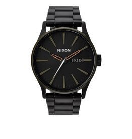 Nixon Nixon Sentry SS Matte Black / Industrial Green Watch