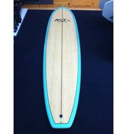 "Dolsey Dolsey 7'6"" Bam Bam Funboard Surfboard Aqua"