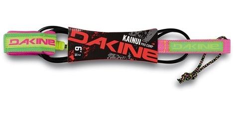 "Dakine Dakine Pro Comp 6' x 3/16"" Kainui Lime / Pink Powder Surfboard Leash"
