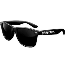 Skate Bones Vato Text Sunglasses Black