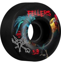 Bones Wheels Bones Wheels STF Pro Sierra Roost 53mm Black Wheels 4pk