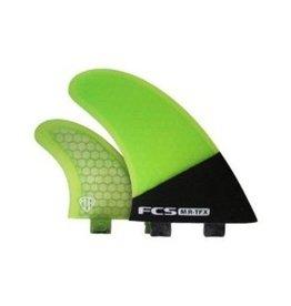 FCS FCS MR-TFX PC Carbon/Fluro Tri Set Fluro Green Surfboard Specialty Fins