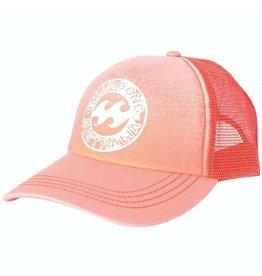 Billabong Billabong Heritage Mashup Trucker Hat Coral Kiss Womens