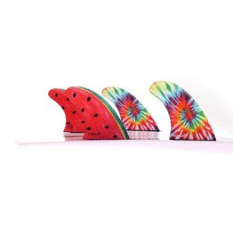 Goriila Fins FCS II Gorilla Moons Beams Melon Tri-Quad Fin Set Surfboard Fins Medium