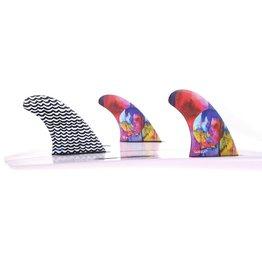 Goriila Fins Gorilla Eat Sleep Wave Repeat Tri-Quad Fin Set Surfboard Fins Medium
